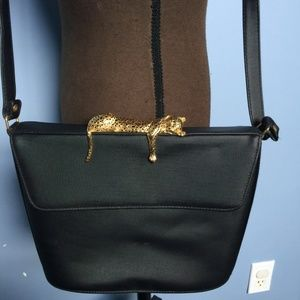 Vintage Sleeping Leopard Crossbody Bag